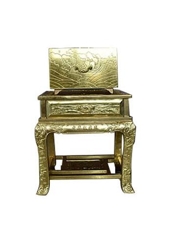 大连纯黄铜制造家史箱(九层)
