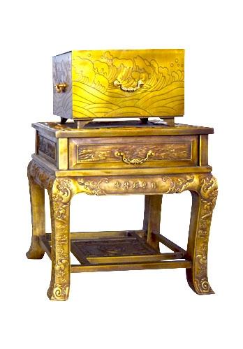 纯黄铜制造家史箱